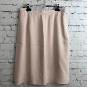 Jones Wear  Light Pink Chevron Pattern Skirt